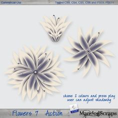 Flowers 7 Action by Mandog Commercial Use for Digital Scrapbooking, #CUDigitals