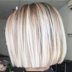 53 Adorable Blunt Bob Hairstyles to Give You a New Look #Fashion #Hair Style #Hair Style