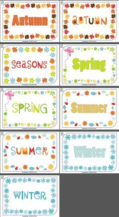 Beautiful Collection of Seasons Posters for Your Classroom — Edgalaxy
