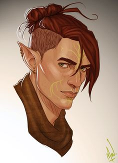 Osiris Lavellan. A little gift for @slugette. I hope you like him. I just could't resist anymore :D