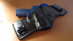 IWB, Leather Holster Mag-Pouch Combo. Comfortable and Concealable. Specify your Holster Color at Checkout, Black, Brown Specify your Stitch