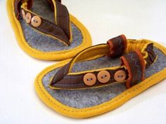 Baby Sandals PDF Sewing Pattern- 3 Button Baby Thong Sandals for boys or girls Sizes Newborn-18 months. $4.50, via Etsy.