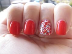 Glitter and coral