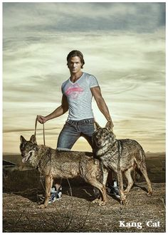 Jared Padalecki: With Wolves by Kang-Cat.deviantart.com on @deviantART