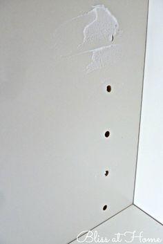 Fill shelve holes