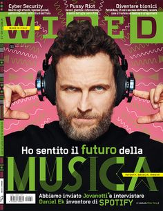 "Wired Italia - nr. 70 ""the Music issue""  Art direction: Corrado Garcia  Photo: Peter Yang Illustration: La Tigre"