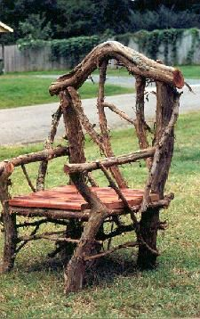 Rustic Garden Structures Benches & Chairs