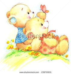 cute teddy bear for kid birthday background . Grandma Birthday Quotes, Birthday Girl Quotes, Funny Birthday Cards, Teddy Bear Images, Teddy Bear Pictures, Country Bears, Bear Illustration, Watercolor Illustration, Birthday Background