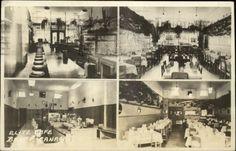 Banff AB The Elite Café Multi-View RARE Byron Harmon Real Photo Postcard