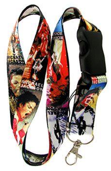 Michael Jackson Vintage Style Lanyard Keychain Badge Holder Snap Buckle | Balli Gifts Michael Jackson Merchandise, Vintage Style, Vintage Fashion, Lanyard Keychain, Key Chains, Mj, Badge, Singer, Gifts
