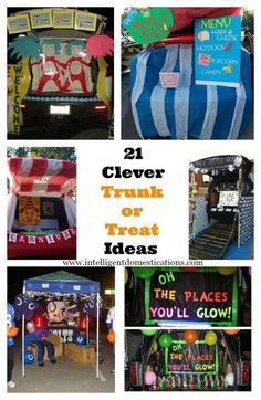 Trunk or Treat Decorating Ideas 21 Clever Trunk or Treat Ideas. Creative ideas for designing your Trunk or Treat for the Fall Festival at your Church or your Halloween Event. Trunk or Treat Desing Ideas anyone can do. Halloween Car Decorations, Fete Halloween, Holidays Halloween, Halloween Treats, Happy Halloween, Halloween Stuff, Preschool Halloween, Halloween Costumes, Halloween Fashion