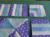 Cornerstone for the piano keys quilt border - shows variations for the corner