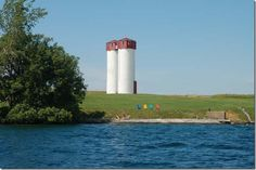 Silos  on Carleton Island - converted to homes - what a view.