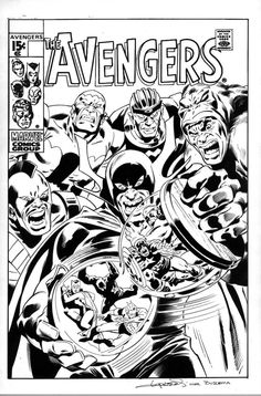 Inks Over Buscema Avengers Cover by aaronlopresti