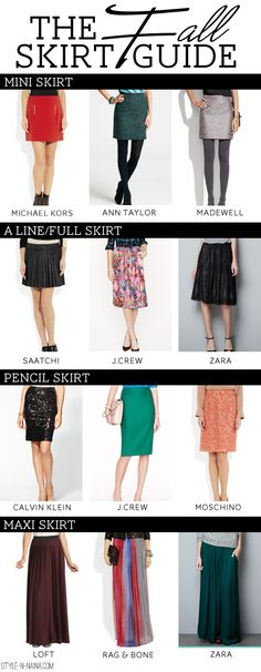 The Fall Skirt Guide, STYLE'N-a personal style blog