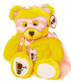 Brianna the Superhero Therapy Bear Set with Pink Camouflage Pendant
