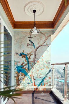 Home Room Design, Home Interior Design, Interior And Exterior, Living Room Designs, Interior Decorating, Kitchen Interior, Small Balcony Garden, Small Balcony Decor, Balcony Design