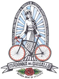 Madonna Del Ghisallo - The Patron Saint of Cycling: She has influence with a higher authority and can organise –if you're really good and ask nicely - the sun to warm us gently, the wind to push us from behind, the moon to light our way, the rain to fall far away, and the hallowed roads to be free of potholes, motorists to be friendly & patient so we reach our destination safely. #cycology, #cycling, #madonna