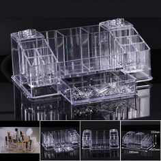 Clear Acrylic Cosmetic Organizer: makeup drawers, display box.