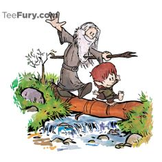 Hobbit + Calvin & Hobs mashup tee.  TeeFury: Cheap, Nerdy, Pop Culture T-Shirts And Posters! New Designs Every 24 Hours