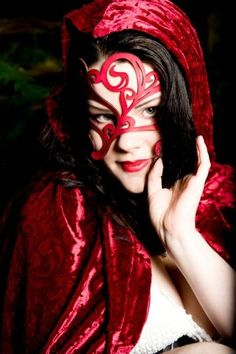 Swirly Leather Mask in Red by TomBanwell on Etsy, $39.00