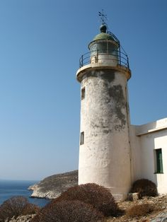 Aspropunta Lighthouse, built in 1919. Greece