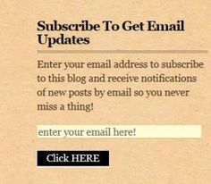 You Don't Want To Miss Out! Make sure you sign up for my FREE newsletter!