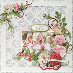 Use cricut to cut white overlay. On the Road to Destiny: Glitter Papers - Anna Griffin Wedding Scrapbook Pages, Scrapbook Cover, Vintage Scrapbook, Baby Scrapbook, Scrapbook Cards, Scrapbook Patterns, Scrapbook Designs, Scrapbook Page Layouts, Scrapbooking Ideas