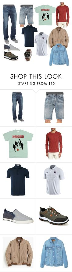 """men2"" by el-kiara on Polyvore featuring BKE, Silver Jeans Co., John Varvatos * U.S.A., Cruciani, NIKE, White Stuff, J.Crew, MANGO, TW Steel и men's fashion"