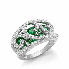 Victoria Wieck 2.99ct Absolute™ Simulated Emerald Ring