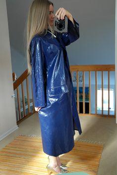 Rukka blue raincoat