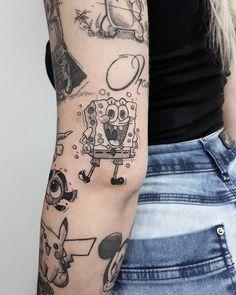 Cute & Funny Cartoon Tattoo Ideas - Page 5 of 200 - CoCohots Baby Tattoos, Little Tattoos, Mini Tattoos, Love Tattoos, Body Art Tattoos, New Tattoos, Small Tattoos, Tatoos, Disney Tattoos