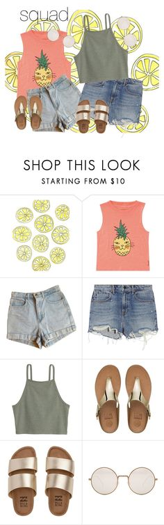"""""""squad goals"""" by kapreece on Polyvore featuring Billabong, American Apparel, Alexander Wang, FitFlop and Illesteva"""