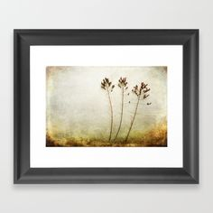 Then There Were Three Framed Art Print