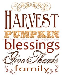 Blooming Homestead: Thanksgiving Printables