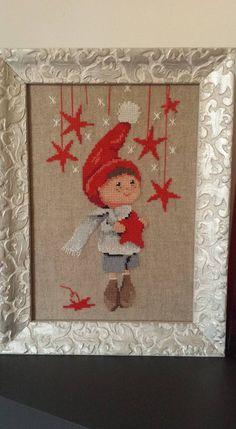sganciare le stelle disegno Martine Rigeade Cross Stitching, Cross Stitch Embroidery, Cross Stitch Patterns, Christmas Cross, Christmas Tree Pattern, Halloween Yarn Wreath, Felt Flower Wreaths, Cross Stitch Tutorial, Christmas Embroidery