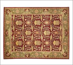 Franklin Persian-Style Rug #potterybarn  I would love to have a rug like this in our dining room.  Warm and not too fussy.