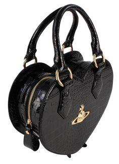 Handbags | Vivienne Westwood New Chancery Heart Bag - Black | @ KJ Beckett -NEW Range of Vivienne Westwood Bags