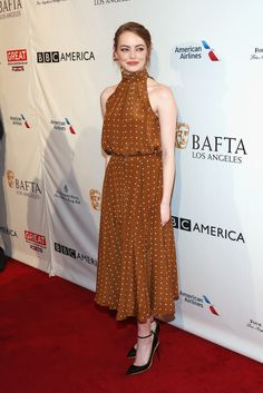 Emma Stone Photos Photos - The BAFTA Tea Party - Arrivals - Zimbio