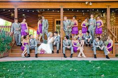 Dancing Apache lodge. Cute wedding party picture