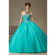 Vestido de 15 azul turquesa in english