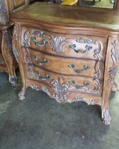 Louis XV Rococo French Set Side Chest by ProvincialButFrench