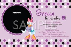 Daisy Duck Birthday Party -invite