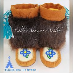 #Beautiful #child #moccasin #mukluks made by a #Tlicho from #Behchoko on http://onlinestore.tlicho.ca