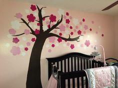 DIY cherry blossom tree for a baby room