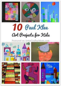 10 Paul Klee Art Projects for Kids Paul Klee was different from other artists, his sarcastic wit being one difference! Learn more about this artist with 10 Paul Klee Art Projects for Kids. Art Lessons For Kids, Projects For Kids, Art For Kids, Art Projects, Famous Artists For Kids, Art Doodle, Paul Klee Art, Artist Project, Ecole Art