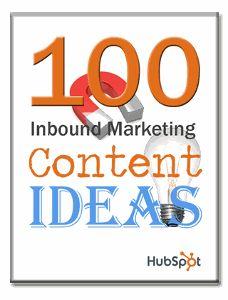 100 Inbound Marketing Content Ideas