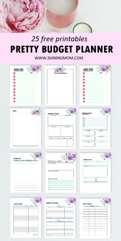 Successfully organize money matters using this lovely free printable budget planner. It insludes brilliant templates for free download! #freeprintables #budgetplanner #budget Budget Template, Templates Printable Free, Free Printables, Printable Budget, Planner Tips, Budget Planner, Financial Planner, Financial Goals, Savings And Investment