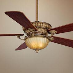 "52"" Ventana Sedona Beige Ceiling Fan. - family room or study"