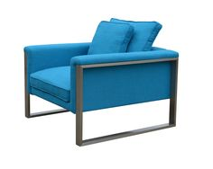 Boston Armchair-  Turquoise Fabric (Special Order)
